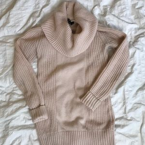 Pale Pink Swoop Neck Sweater